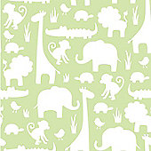 NuWallpaper Its A Jungle In Here Peel And Stick Wallpaper - Green