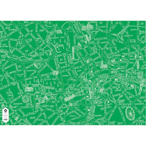 Michael A Hill Map Wrap - London