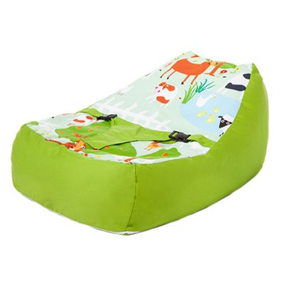 Le Farm Nursery Baby Bean Bag with Harness Cotton Secure Zipped Cover Seat Chair