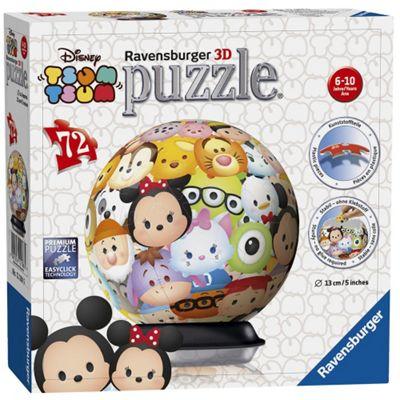 Disney Tsum 72 Piece '5 Inch 3D' Puzzle Ball Plastic
