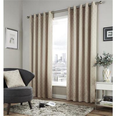 Fusion Denby Natural 46x54 Inch Eyelet Curtains