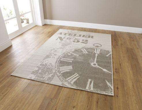 Oriental Carpets & Rugs Cottage Watch Flat Weave Novelty Rug - 150cm L x 80cm W