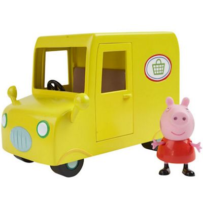 Peppa Pig Vehicle with Figure - Supermarket Delivery Van