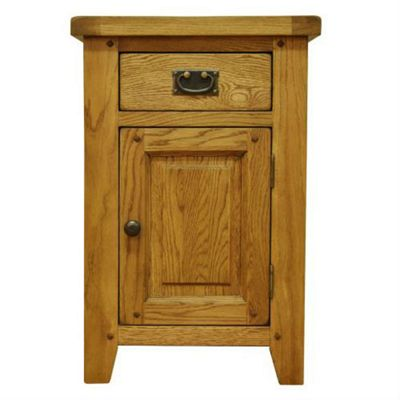 Cambridge Petite Rustic Oak Small Cupboard with Drawer