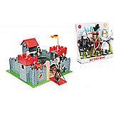 Le Toy Van Camelot Castle and Knights Set - Red