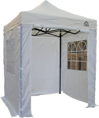 All Seasons Gazebos Heavy Duty, Fully Waterproof, 2m x 2m Standard Pop up Gazebo Package in White
