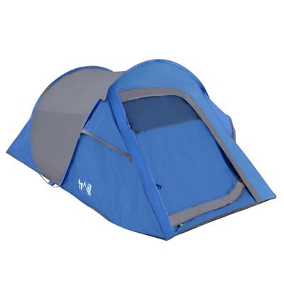 Trail Deluxe DS 2-Man Pop-Up Tent With Porch - Blue