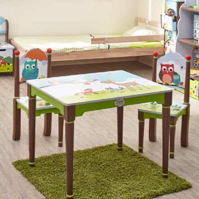 Fantasy Fields- Enchanted Woodland Table and 2 Chairs Set.