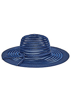 F&F Foldable Wide Brim Sun Hat - Blue