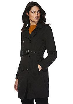 Vila Belted Trench Coat - Black