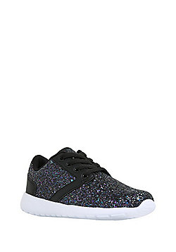 F&F Glitter Trainers - Black