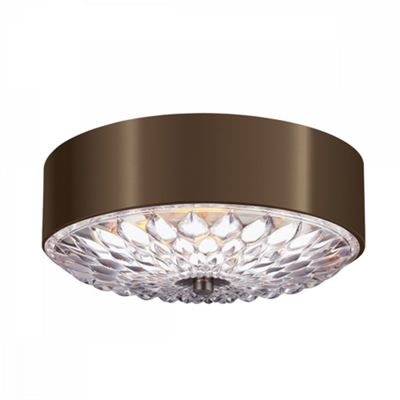 Dark Aged Brass Small Flush Mount - 3 x 60W E27