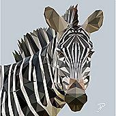 Birthday, Anniversary Greetings Card - Zebra Animal Design - Blank
