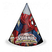 Marvel Ultimate Spiderman Party Hats (pack of 8)