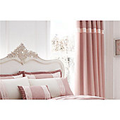 Catherine Lansfield Gatsby Pink 66x72 Inch Pencil Pleat Curtains