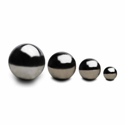 Set of Four Stainless Steel Mirror Sphere Ornaments 6.5, 9, 13 & 18cm