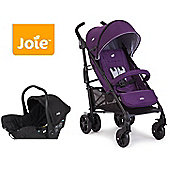 Joie Brisk LX Travel System - Deep Purple