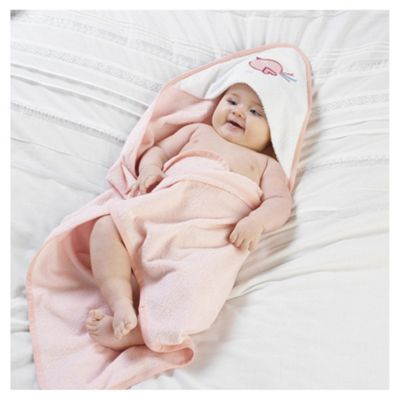 Lollipop Lane Pink Birdie Cuddle Robe & Wash Mitt