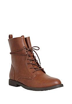 F&F Lace-Up Hiker Boots - Tan