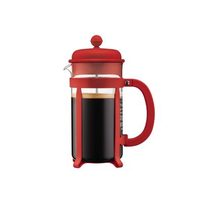 Bodum Java 8-Cup French Press Coffee Maker, Spill-Proof Case with Silicone Gasket, 1 Litre (Red)