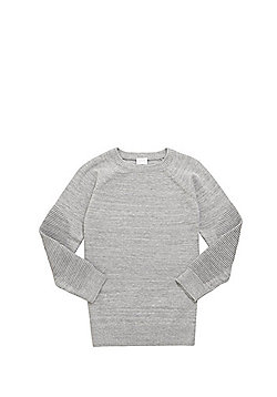 F&F Ripple Knit Sleeve Jumper - Grey