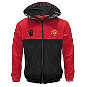 Manchester United FC Boys Shower Jacket - Red