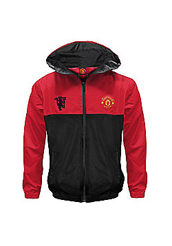 Manchester United FC Boys Shower Jacket - Red
