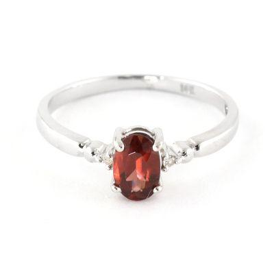 QP Jewellers Diamond & Garnet Allure Ring in 14K White Gold - Size U