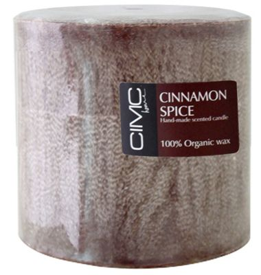 Cinammon Spice Scented Large Pillar Candle