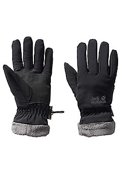 Jack Wolfskin Ladies Softshell Highloft Glove - Black