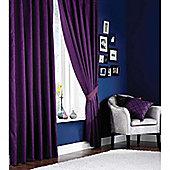 Catherine Lansfield Faux Silk Curtains 46x54 (117x137cm) - Aubergine