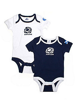 Scotland Rugby Baby Bodysuits - Pack of Two - Navy/White - Blue