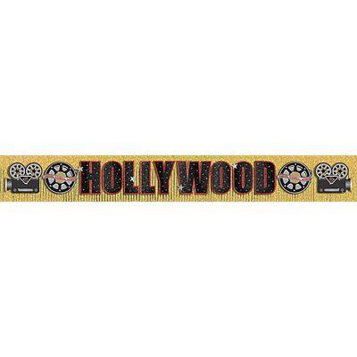 Hollywood Banner - 3m Glitter Fringe Banner