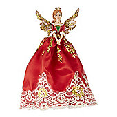 Traditional Nutcracker Fairy Christmas Tree Topper
