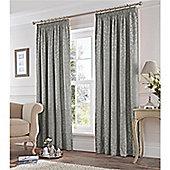 Fusion Eastbourne Pencil Pleat Curtains - Silver