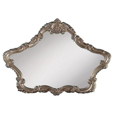 French Overmantle Mirror, Silver