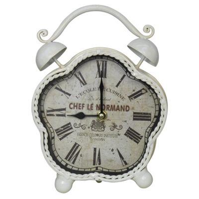 Chef Le Normand Table Clock - Cream