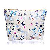 Medium Butterfly Print Make Up Bag