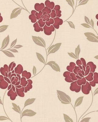 Superfresco Iris Wallpaper - Red and Cream