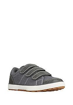 F&F Triple Strap Canvas Shoes - Grey