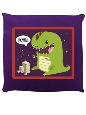 ROWR! Purple Cushion 40x40cm