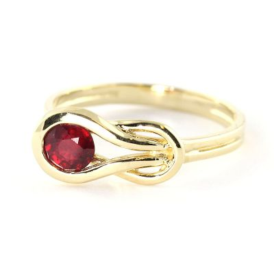 QP Jewellers 0.65ct Ruby San Francisco Ring in 14K Gold - Size B 1/2