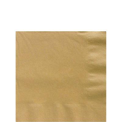 Gold Beverage Napkins - 2ply Paper - 100 Pack