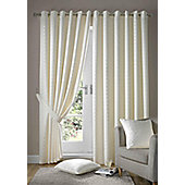 Alan Symonds Madison Cream Eyelet Curtains - 90x90 Inches (229x229cm)