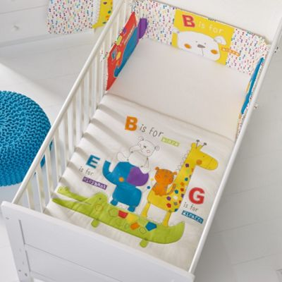 OBaby B is For Bear Quilt & Bumper Set (Happy Safari)