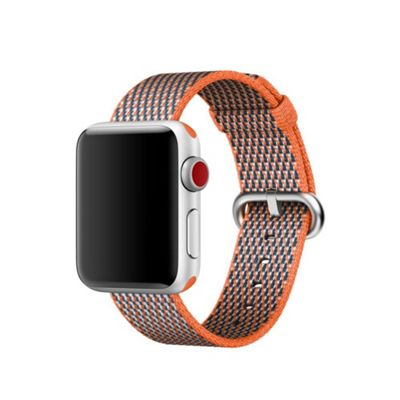 Apple MQVE2ZM/A Band Grey Orange Nylon 38mm Spicy Check Woven