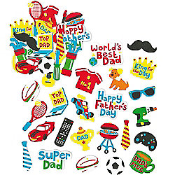 Father's Day Foam Stickers for kid's Crafts and Collage (Pack of 120)
