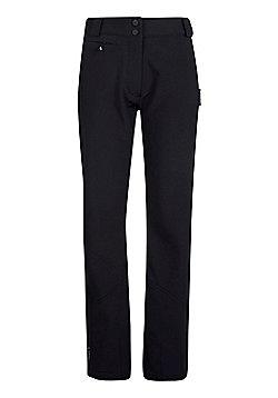 Mountain Warehouse Mesa Extreme Womens Softshell Ski Pants - Black