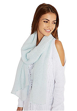 F&F Sparkle Pleated Scarf - Blue