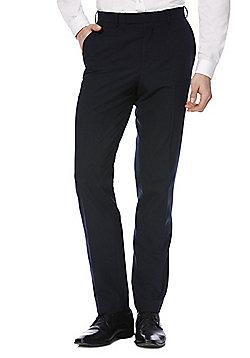 F&F Slim Fit Suit Trousers - Navy